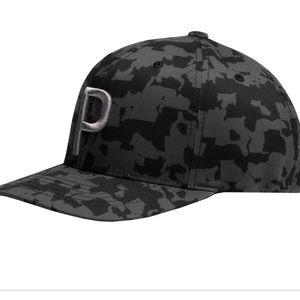 PUMA Black Camo SnapBack Cap Hat